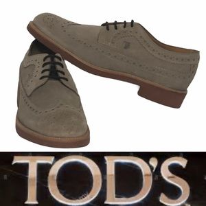 NEW Tod's Mens (or Womens)  Suede Laceup Oxfords
